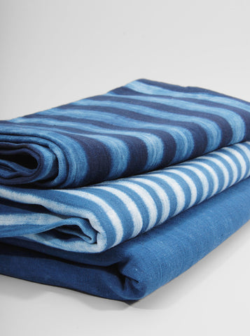 Striped Indigo Table Throw (Light), Tensira - Northernism