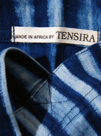 Striped Indigo Tote Bag (light), Tensira - Northernism