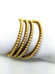 15BG368 - a - Handmade Pearl Bangles - (set of 4) - Prachy Creations