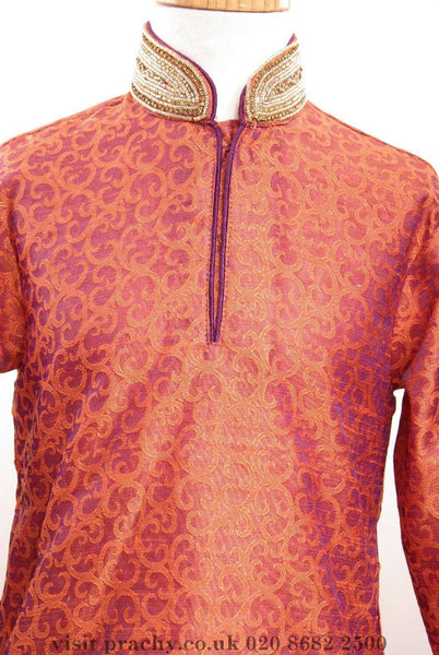 Boys - CKB 1601o Orange - kv0716 - Prachy Creations