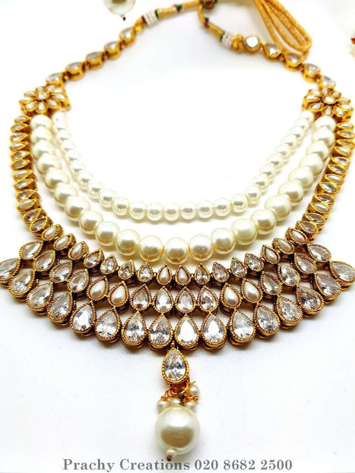 Prachy Creations : DJ 22169 kh 0616 - Pearl long set