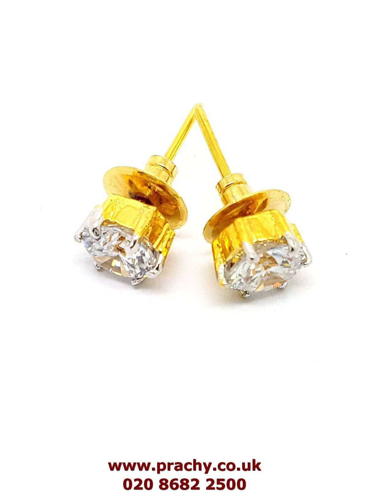 Prachy Creations : AJER 1716 kp 0217 AD Stud earrings