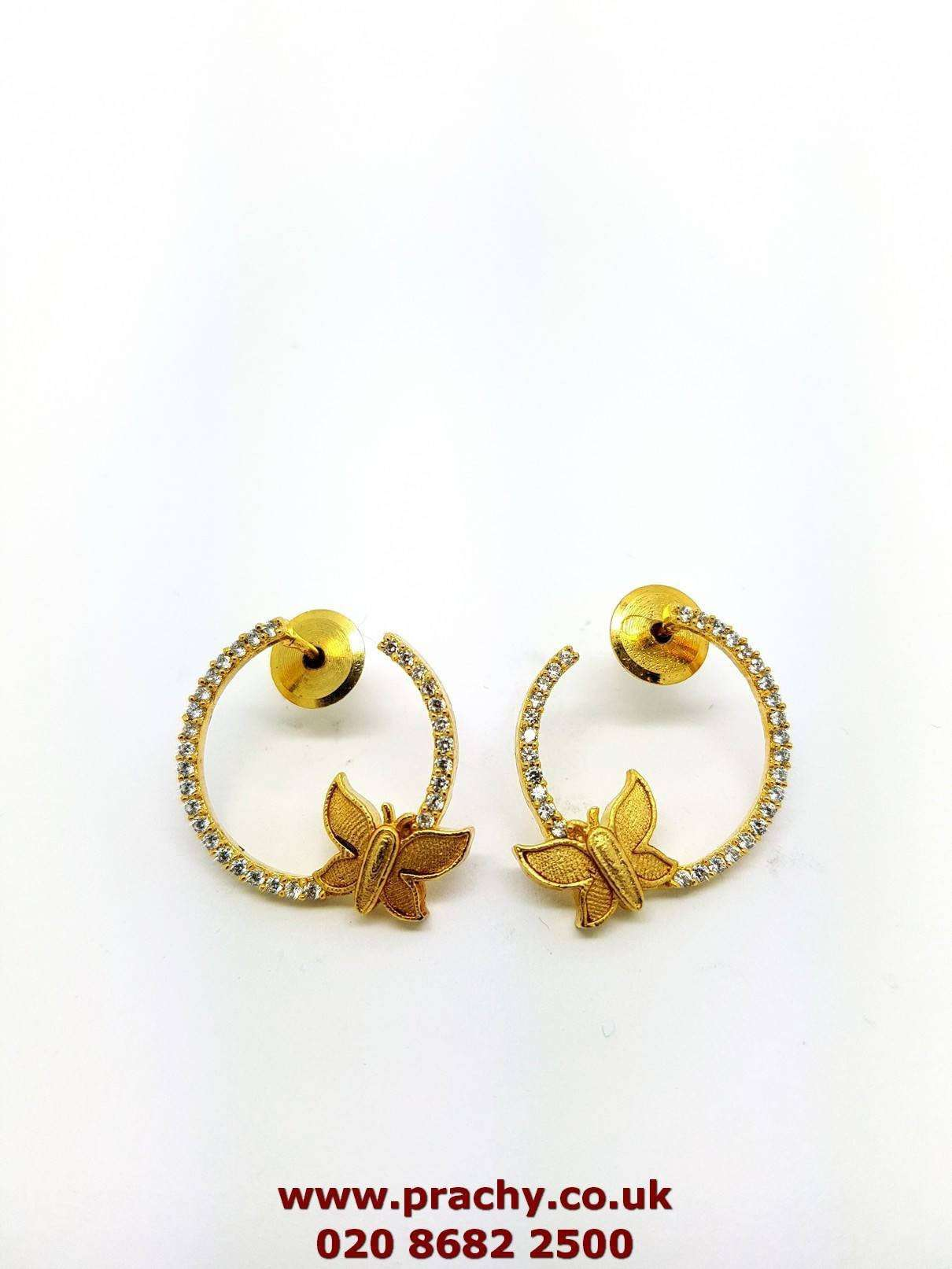 AJER 1719 tp 0217 AD Stud earrings - Prachy Creations