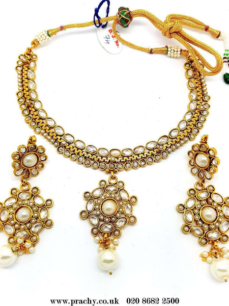 DJ 22208 - Choker necklace set - kt 1116 - Prachy Creations
