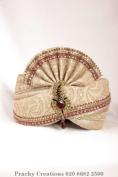 Prachy Creations : Antique Gold Turban 216 - 1447 KT0416