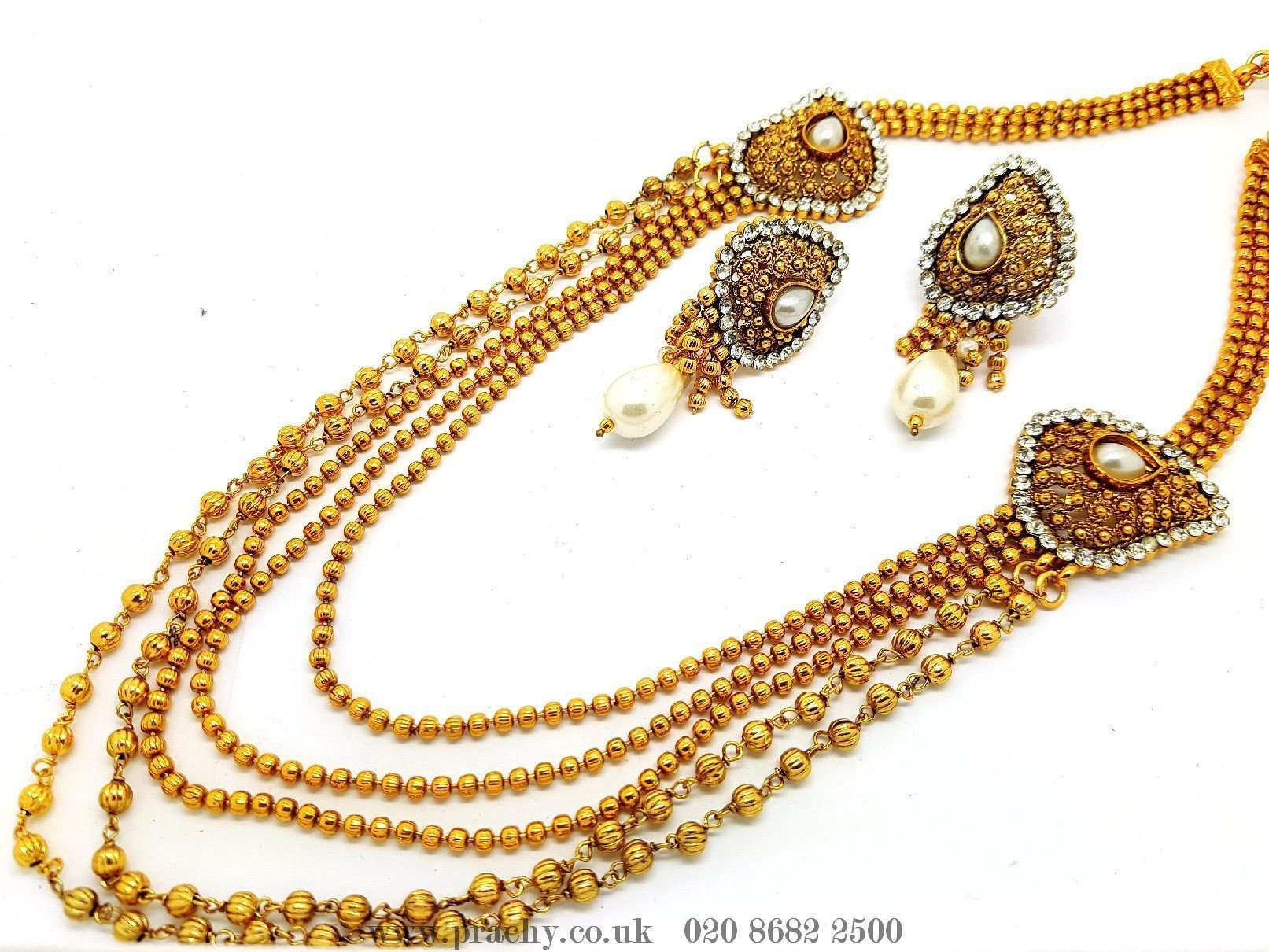 DJ 22216 - Long necklace set - KA 0916 - Prachy Creations