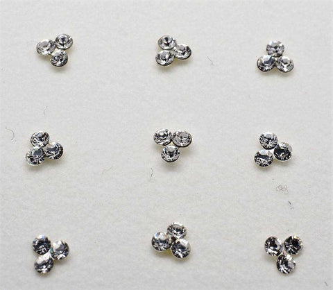 BollywoodParty - 3 stone silver nose pin JV0418