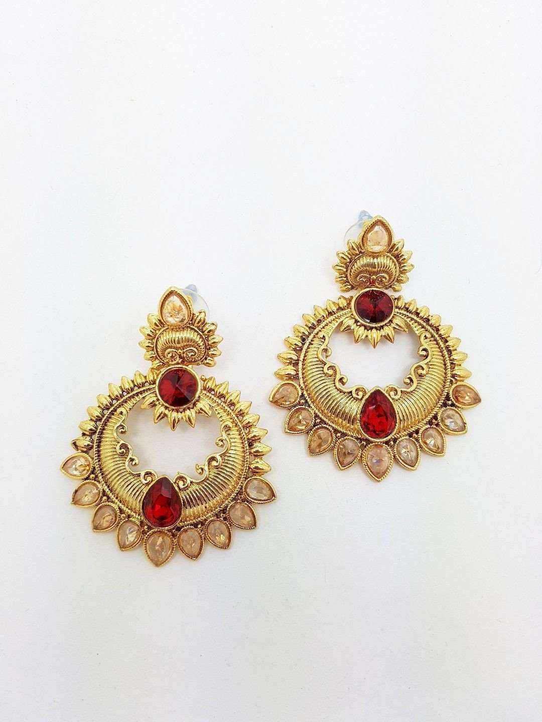 Prachy Creations : DC-ER14 R - Indian hand made Earrings