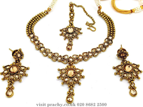 4NS6120 - Choker set - KK 0816 - Prachy Creations