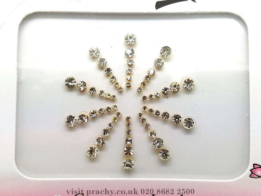 Prachy Creations : Pack of 10 premium stone Bindi - TN 5005 k 0816 - Bollywood party, fancy dress, weddings