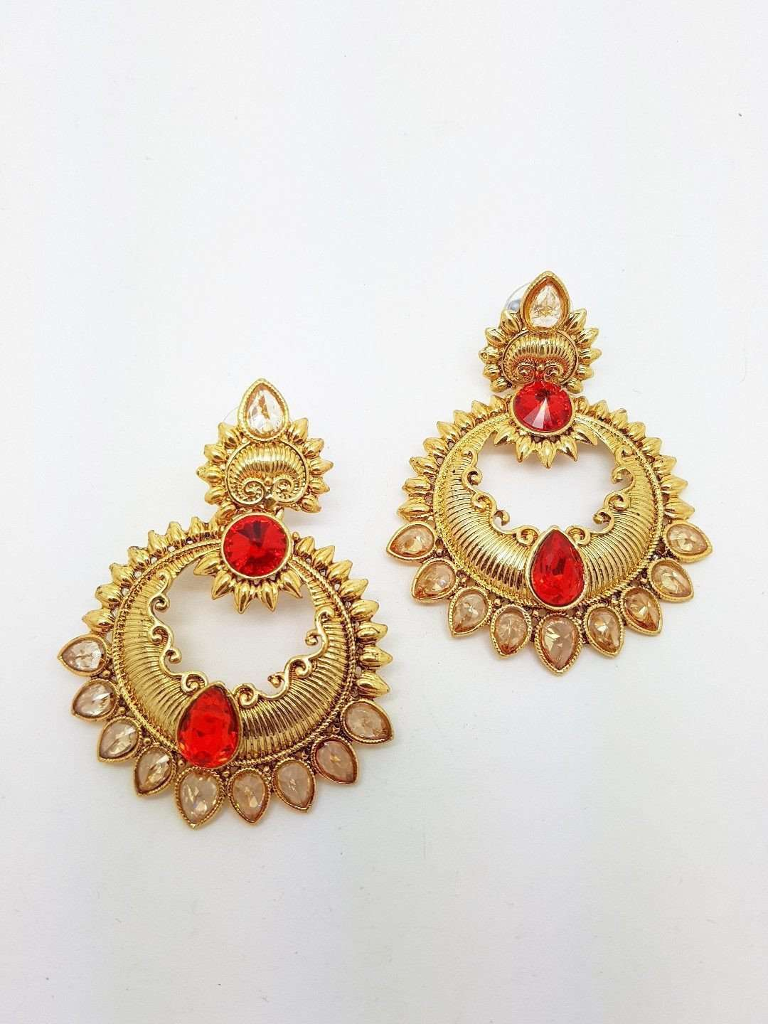 DC-ER14 R - Indian hand made Earrings - Prachy Creations
