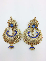 Finest Indian hand made Earrings, Bollywood, Fancy dress - DC-ER121H - Prachy Creations