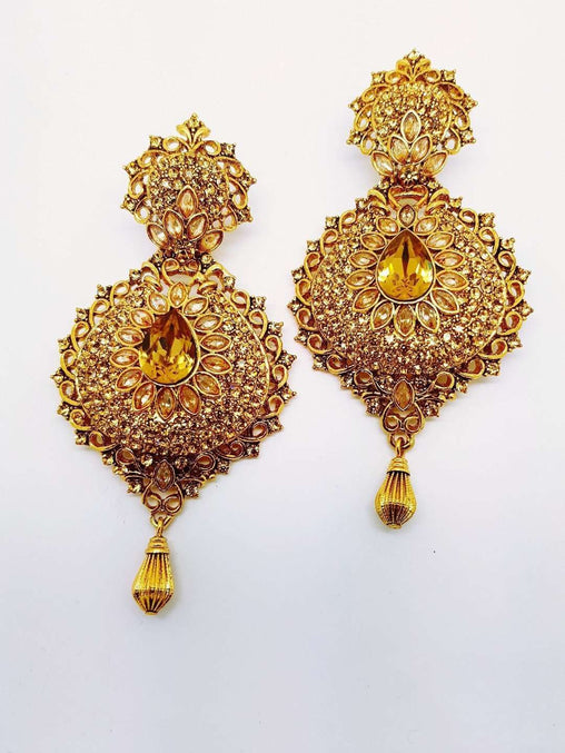 Prachy Creations : DC-ER89 AP - Indian hand made Earrings Bollywood Weddings