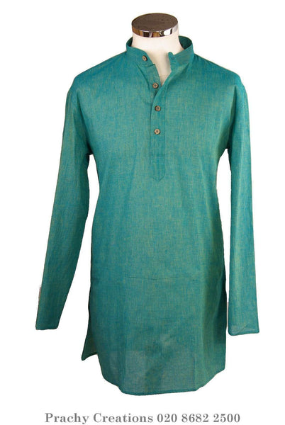 Prachy Creations : Turquoise Kurta top - Indian shirt - Ideal on a pair of jeans - Azad P 0316
