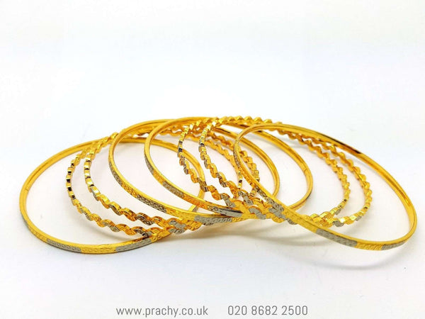 B953 Bangles - (set of 8) j 0916 - Prachy Creations