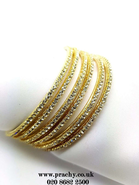 PB 27 C 16 - 22 bangles Antique / stone set - Bollywood, Weddings, Fancy Dress, Return Gift - Prachy Creations