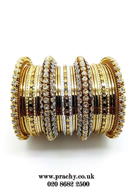 Prachy Creations : PB 29 t - 25 pieces Antique bangle set - Bollywood, Weddings, Fancy Dress, Return Gift