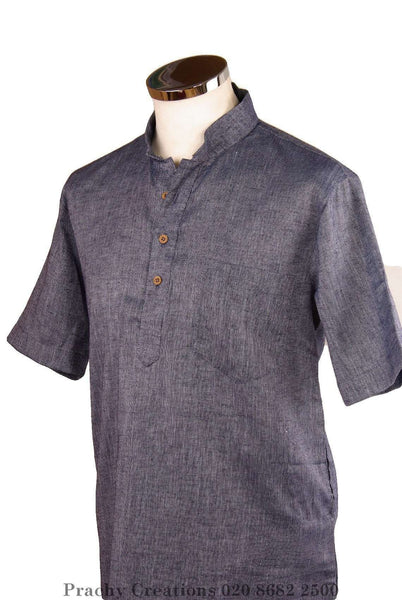 Prachy Creations : Denim Kurta top - Indian shirt - Ideal on a pair of jeans - Bolero A.P 0316