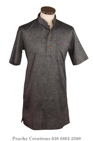 Prachy Creations : Grey Kurta top - Indian shirt - Ideal on a pair of jeans - Bolero A.P 0316