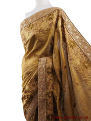 Prachy Creations : DRF5015 04JJ17 - Gold Saree with blouse pcs