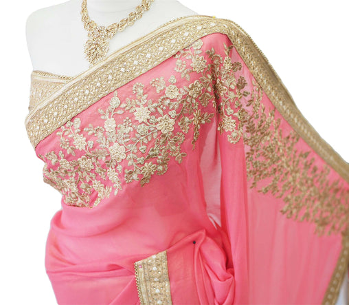 Half N Half saree with blouse pcs - DRF5022TC 0218 - Prachy Creations