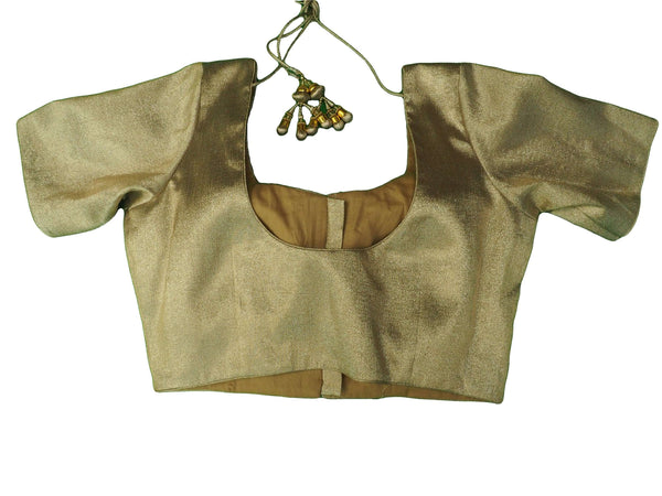 Classic Gold Saree Blouse , Premium Quality, Great Fit (FB1801) 02kp18