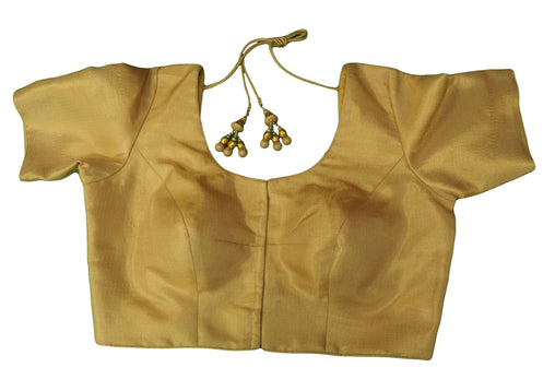 Classic Gold Saree Blouse , Premium Quality, Great Fit (FB1809) 02kp18