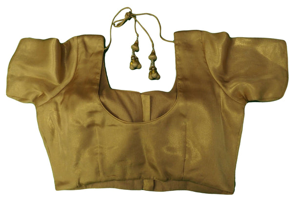 Classic Gold Saree Blouse , Premium Quality, Great Fit (FB1810) 02kp18