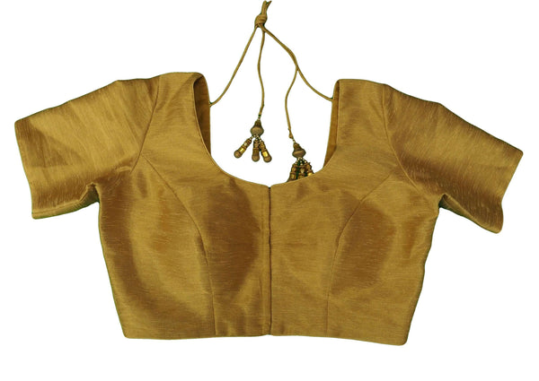Gold Saree Blouse , Premium Quality, Great Fit (FB1816) 02kp18