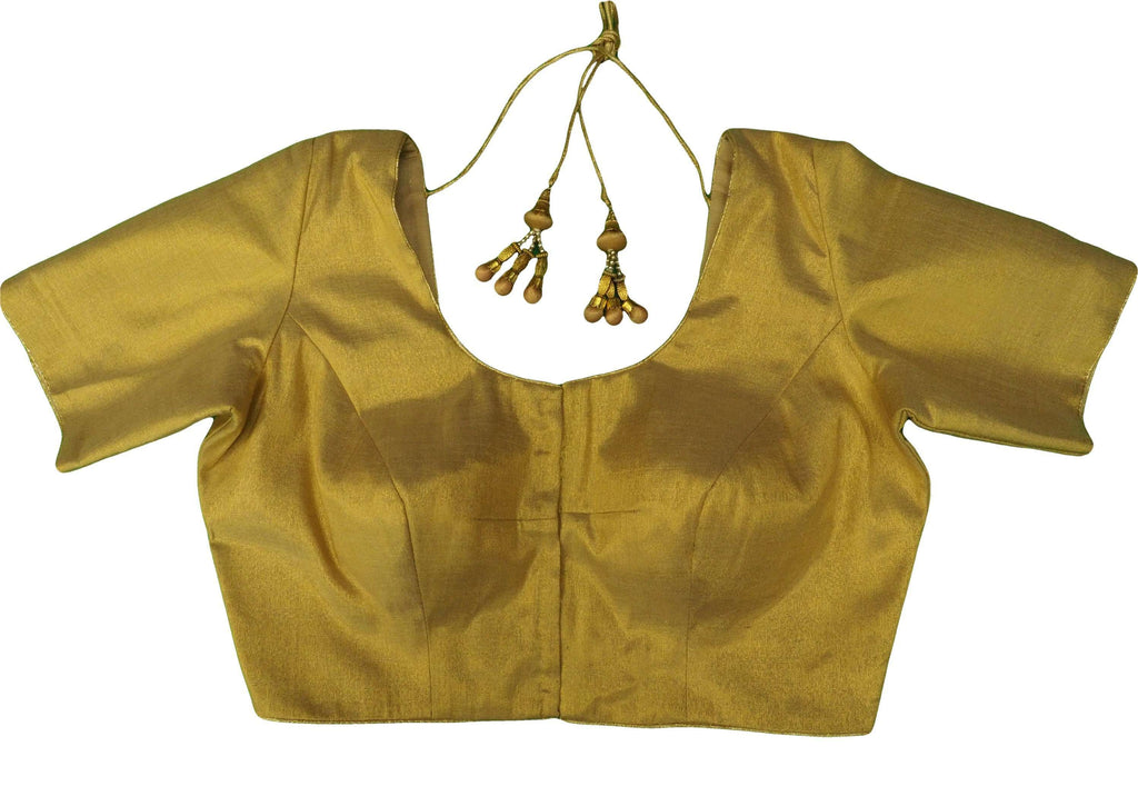 Gold Saree Blouse , Premium Quality, Great Fit (FB1817) 02kp18