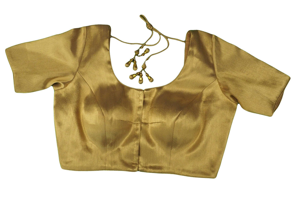 Gold Saree Blouse , Premium Quality, Great Fit (FB1820) 02kp18