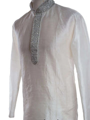 CLEARANCE - Mens White Kurta set with stone work - FI 006 Ky1216 - Prachy Creations