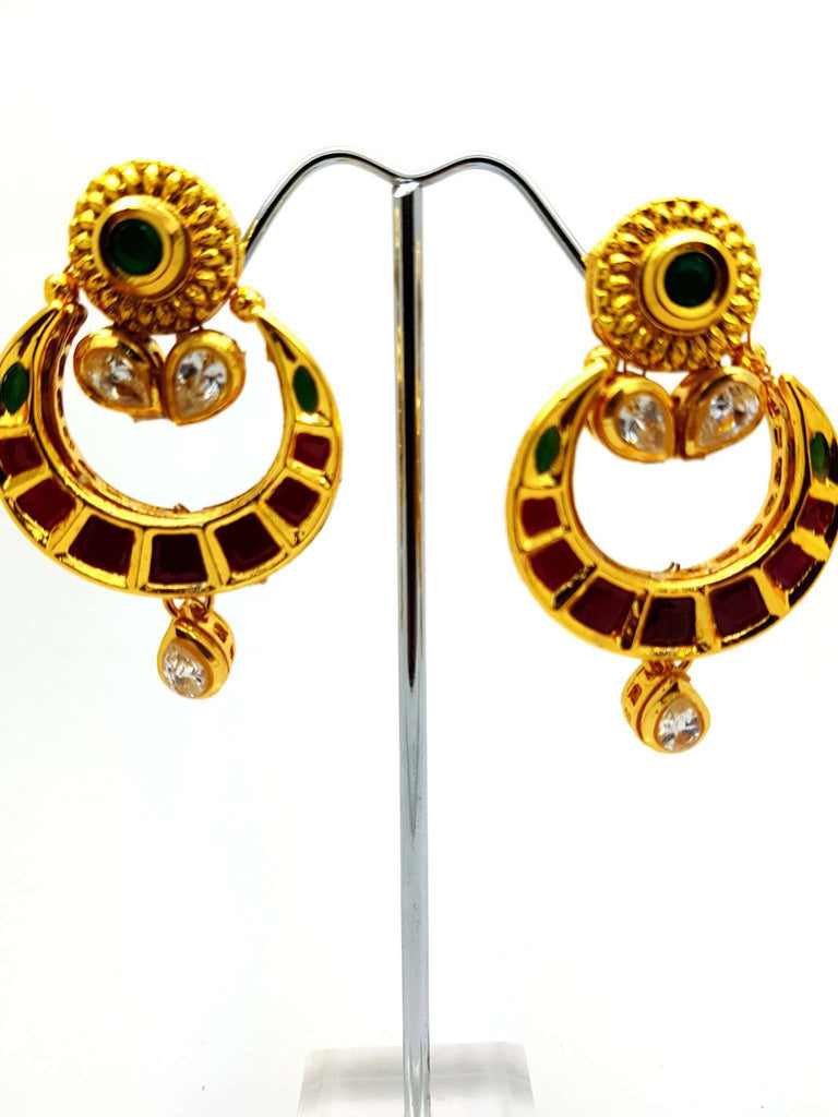 wear fashion detail party handmade rani rajasthani colour lakh earrings product traditional