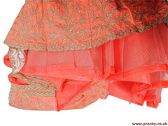 Prachy Creations : GLS4754 06RT17 - Pink Semi stitched Ladies Lehnga suit