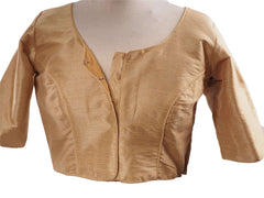 Gold Dupion Silk Saree blouse - size 34