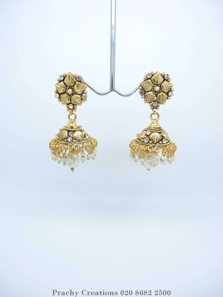 HR 377 - Indian Zhumki earrings for weddings and bollywood parties P 0316 - Prachy Creations