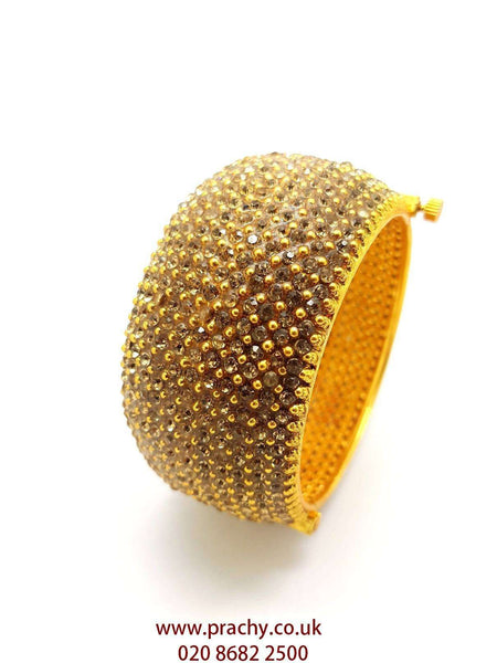 HR441 rp - Hand made Openable stone Kada, Weddings, Bollywood - Prachy Creations