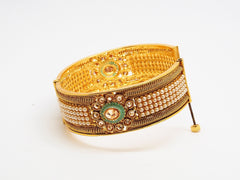 Openable Gold finish Kada Bangle - Various sizes - Bollywood - Weddings -  HR812 Vp0919 - Prachy Creations