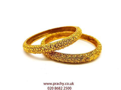 HAT 1701 v 0217 - Pair of Antique Finish Bangles - Prachy Creations