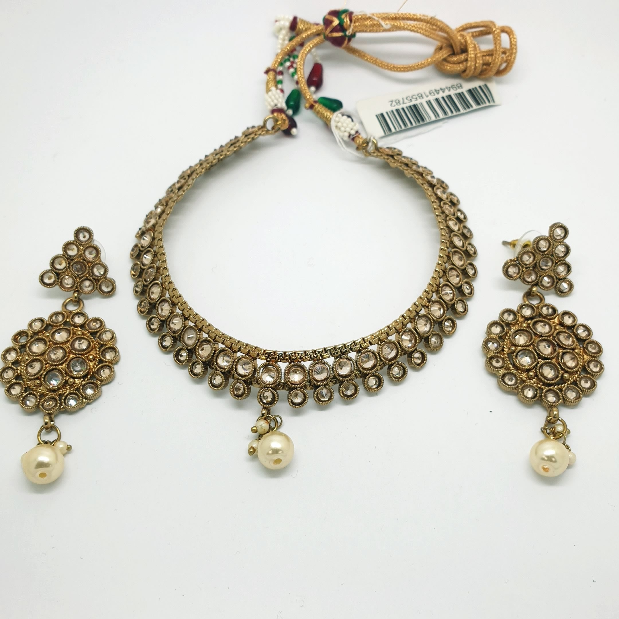 Reverse stone Choker necklace set - Bollywood - Weddings - MNA213 KJ0719