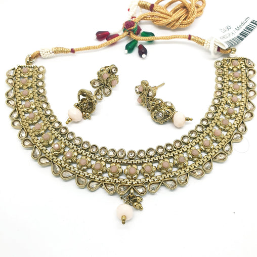 Ladies Choker with Earrings set - Bollywood - Weddings - HR860 C1119 - Prachy Creations