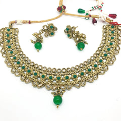 Ladies Choker with Earrings set - Bollywood - Weddings - HR860 C1119
