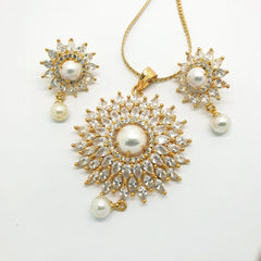 Ladies Pendant with Earrings set - Bollywood - Weddings - AE191103 A1119 - Prachy Creations