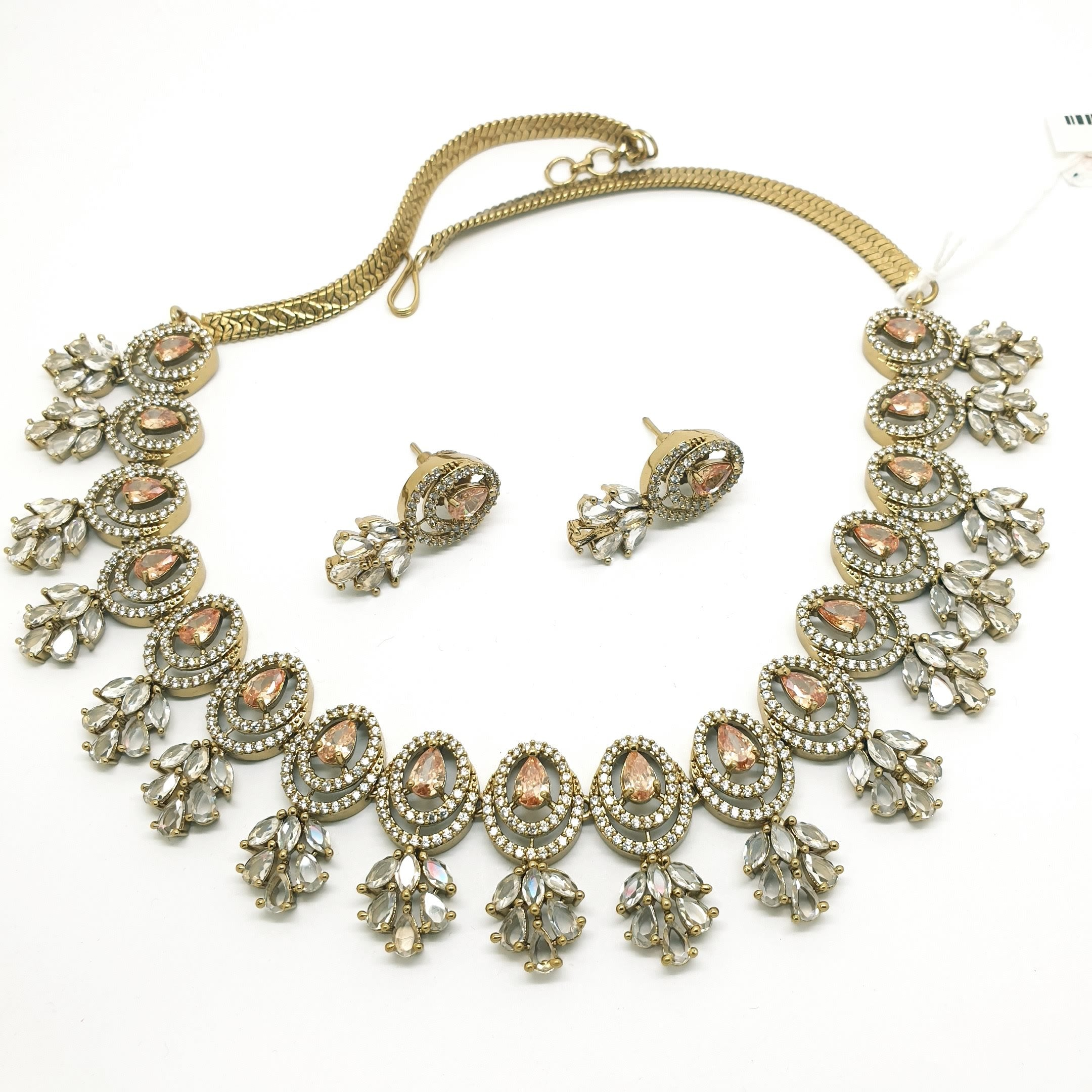 Ladies Necklace with Earrings set - Bollywood - Weddings - MMJ555 TV1119