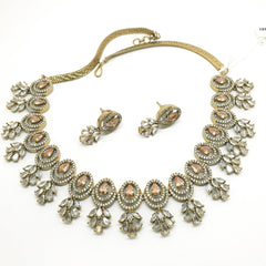 Ladies Necklace with Earrings set - Bollywood - Weddings - MMJ555 TV1119 - Prachy Creations