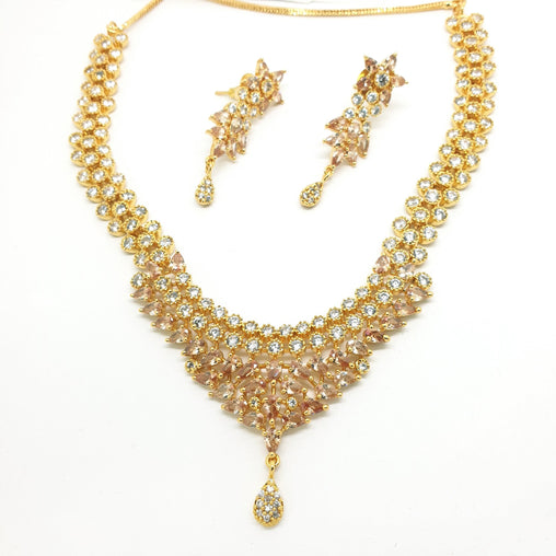 Ladies Necklace with Earrings set - Bollywood - Weddings - SKN2293 KK1119