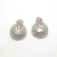 Delicate Choki Stone AD Earrings set - Bollywood - Weddings - MMJ150 KY1119 - Prachy Creations