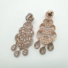 Delicate Choki Stone AD Earrings - Bollywood - Weddings - MMJ290 KA1119