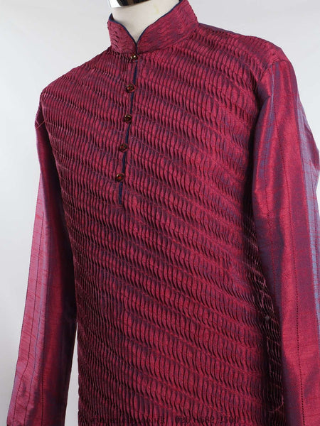 "Prachy Creations : Mens Kurta Set - Indica- kh0815, 34"" / Deep Pink"