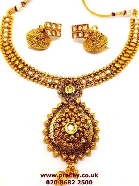 Prachy Creations : JA24 a 0217 - Necklace and earrings Choker set